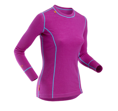 Kvinner-Pierre-Robert-Sport-Collection-Wool-Long-Sleeve-Top-Violet_product