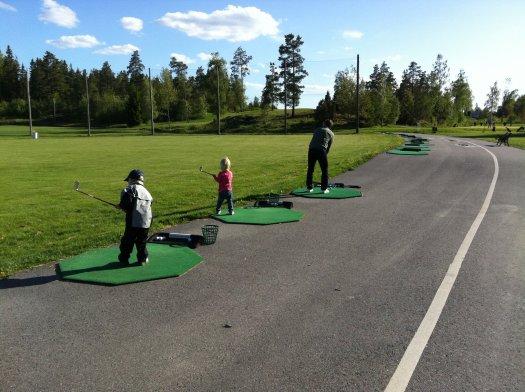 golf med familjen