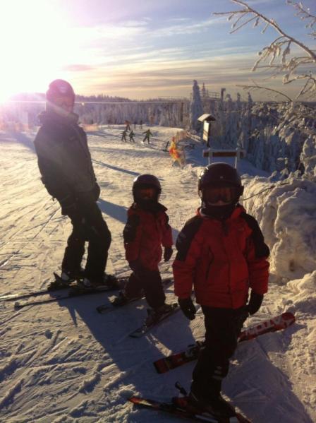 säfsen slalom med familjen